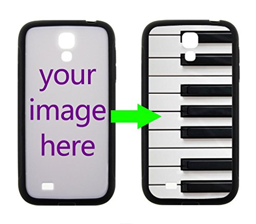 Fashion Design Piano Keyboard Personalized Custom Case For Samsung Galaxy S4 I9500 Case ( Laser Technology )Black / White Hard Plastic Samsung S4