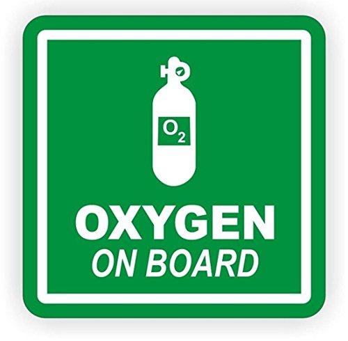 1 PCs Defectless Popular Oxygen On Board Vinyl Stickers Sign Safety Helmet Weatherproof Truck Label Size 4