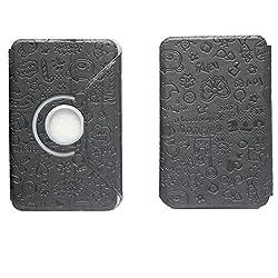 BRAIN FREEZER G14 ROTATING BIG TEDDY DESIGN 7INCH FLIP FLAP CASE COVER POUCH CARRY FOR XOLO 7.0 XTW800 BLACK