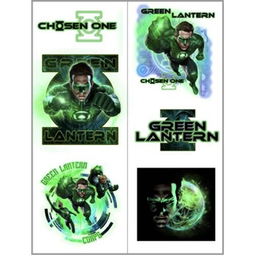 Green Lantern Temporary Tattoos (2 sheets) - 1