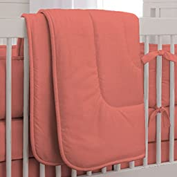 Carousel Designs Solid Coral Crib Comforter