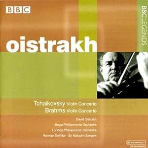 チャイコフスキー:ヴァイオリン協奏曲/ブラームス:ヴァイオリン協奏曲(オイストラフ/デル・マー/サージェント)(1960, 1961)