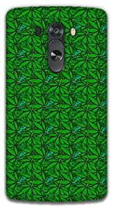 The Racoon Grip Green Field hard plastic printed back case / cover for LG G3