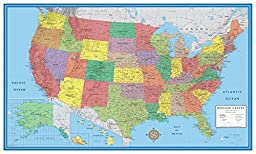 24x36 United States, USA Classic Elite Wall Map Mural Poster