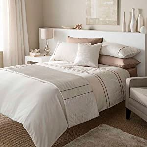 Catherine Lansfield Heat Seal Super King Size Quiltset Natural