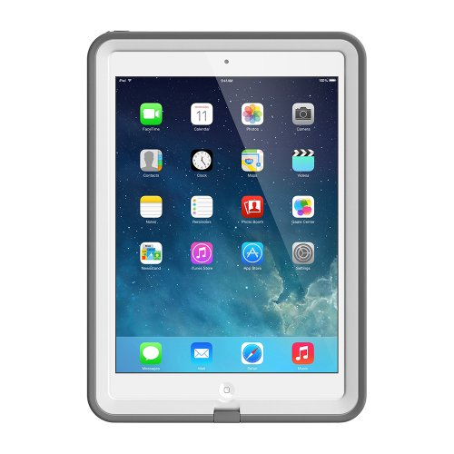 LifeProof FRE iPad Air Waterproof Case - Retail Packaging - WHITE/GREY