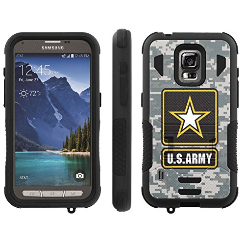 [ArmorXtreme] Case for AT&T Samsung Galaxy [S5 Active] G870A [Black/Black] [Xtreme Armor Combat Duty Case with KickStand] - [US Army Camo] (Samsung S5 Mini Armor compare prices)