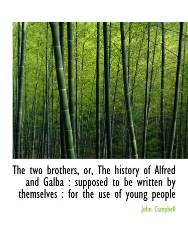 The two brothers, or, The history of Alfred and Galba : supposed to be written by themselves : for t