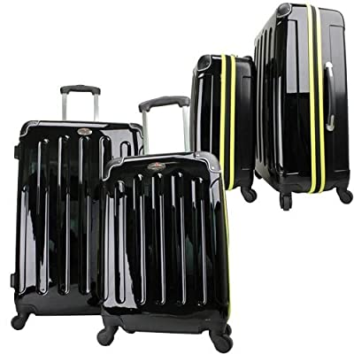Swiss Case 4 Wheel EZ2C 2Pc Suitcase Set Fluvo by Swiss Case