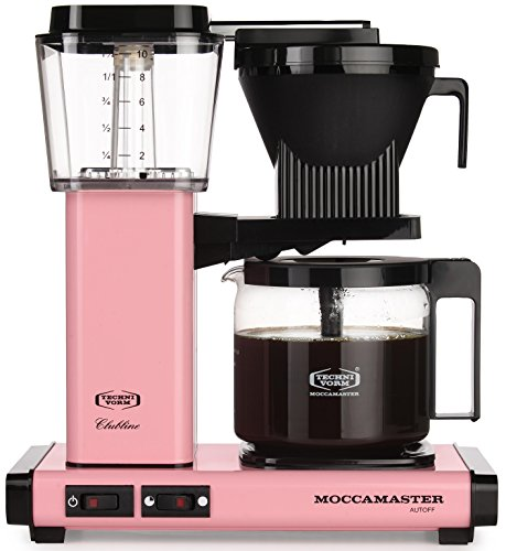 Technivorm-Moccamaster KBG 741 10-Cup Coffee Brewer with Glass Carafe, Pink