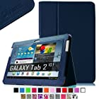 Fintie Slim Fit Folio Case Cover for Samsung Galaxy Tab 2 10.1 inch Tablet - Navy