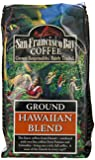 San Francisco Bay Coffee Ground, Hawaiian Blend, 12 Ounces (Pack of 3)