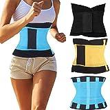 Mem's Women's Sports Belt Lumbar Lower Back Support Brace Exercise Belly Body Shaper Slimming Tummy Waist Trimmer Belt for Lose Weight Belt (Color: Black, Tamaño: XL/(Fit Waist 33-39.5inch))