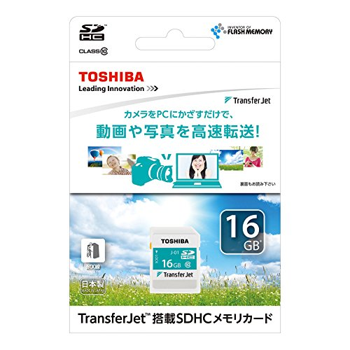 東芝 TransferJet対応 SDHCメモリカード 16GB Class10 SD-TJA016G