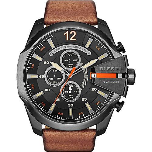 diesel-mens-dz4343-mega-chief-gunmetal-brown-leather-watch