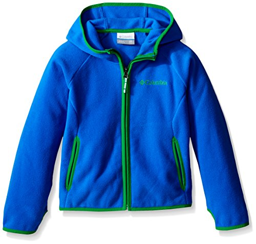 Columbia Big Boys Fast Trek Hoodie, Super Blue/Fuse Green, X-Small