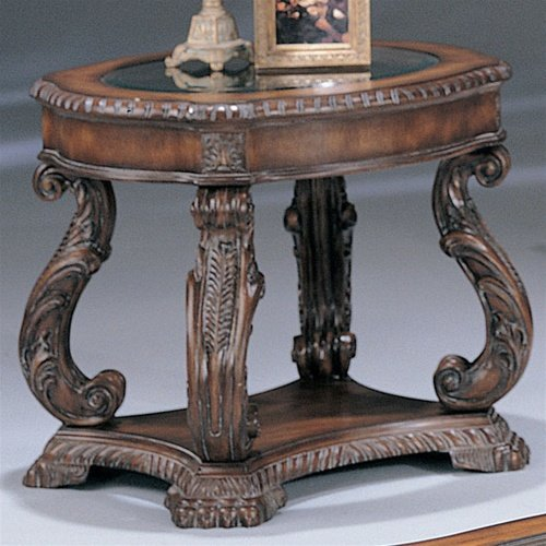 Image of Antique Finish End Table Coaster Co (B003XR65P6)