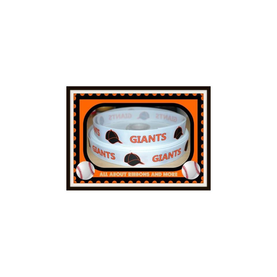 San Francisco Giants 1 inch white grosgrain ribbon (5 yard package)