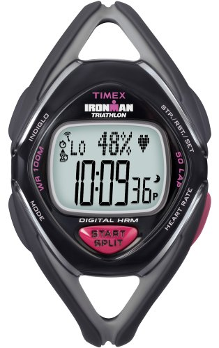 Cheap Timex Ironman Race Trainer Heart Rate Monitor Watch, Black/Grey (T5K219F5)
