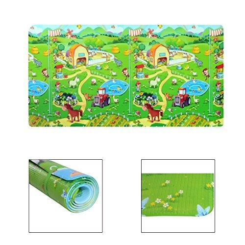 Homcom - Tappetino Gioco Morbido Pratico con Animali per Bambini 230 x 130 x 1.2cm Colori Assortiti