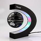 Créatif Globe Terrestre Lumineux Flottant Magnétique Levitation Globe Lamp avec Lumières LED et Base en forme C pour Décorations Maison et le Bureau...