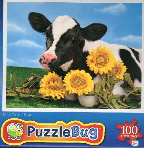 Baby Calf - 100 Pc Jigsaw Puzzle - New