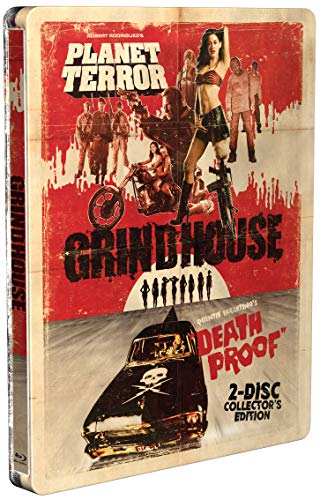 Blu-ray : Grindhouse (planet Terror /  Death Proof) (steelbook) (Collector's Edition, Steelbook, Widescreen, 2 Pack)