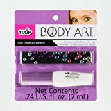 Tulip Body Art Crystals and Adhesive Multi ct
