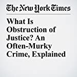 What Is Obstruction of Justice? An Often-Murky Crime, Explained   Charlie Savage