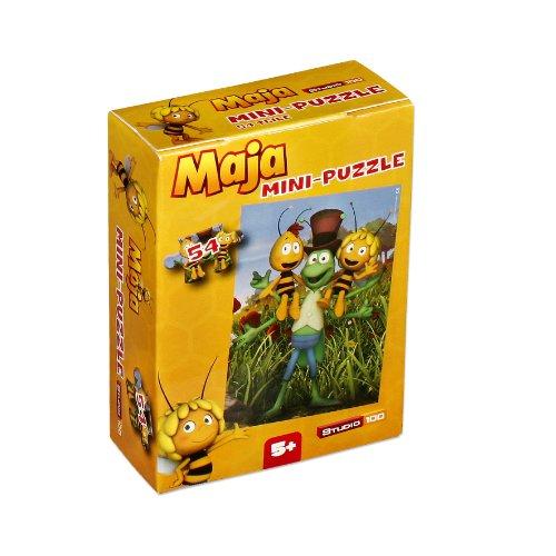 Mini-Puzzle Biene Maja von Studio 100; Motiv: Flip mit Maja und Willi; 54 Teile; MEMADE000230