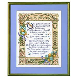 "Bucilla Lord's Prayer Counted Cross Stitch Kit-11-1/4""X14-1/2"" 14 Count"
