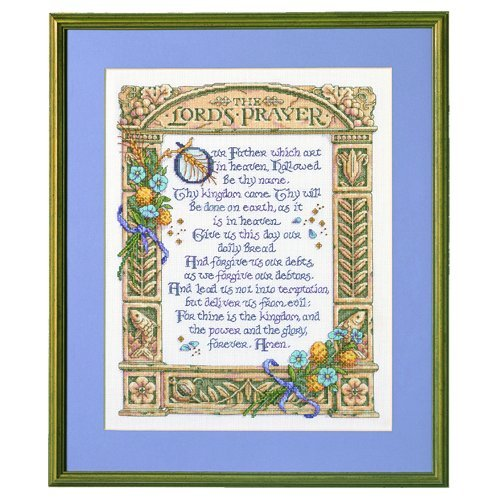 Buy Cheap Bucilla Lord's Prayer Counted Cross Stitch Kit-11-1/4X14-1/2 14 Count