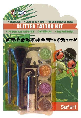 Glimmer Body Art SAFARI Glitter Tattoo Kit