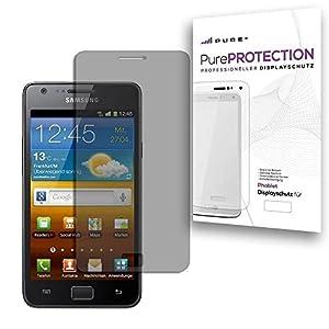 Pure² PurePROTECTION 6x Displayschutzfolie matt für Samsung I9100 Galaxy S2 kratzfestest mit Anti Glare Beschichtung (Keine Reflektion -Entspiegelnd), keine Fingerabdrücke mehr. 6x Schutzfolie im BIG PACK