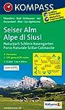 Seiser Alm /Alpe di Siusi: Wanderkarte mit Panorama, Radrouten und Skitouren. GPS-genau. 1:25000 (KOMPASS-Wanderkarten)