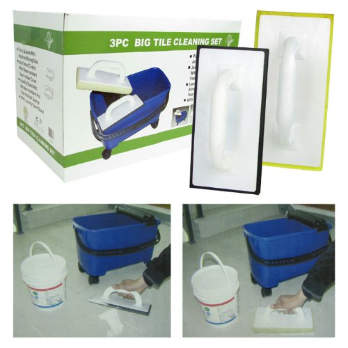 Jumbo 3 Piece Tile and Grout Cleaning Set