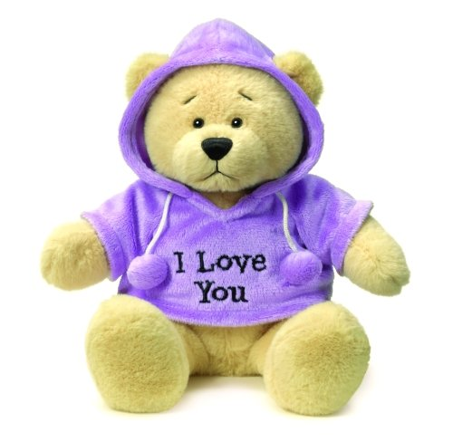Ganz Hoodie Bear: I Love You