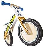 Kiddimoto Kids Kurve Wooden Balance Bike - Police, 10-18 Inch