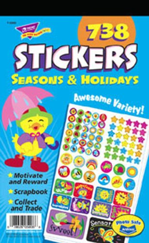 Sticker Pad Seasons & Holidays -- Case of 8