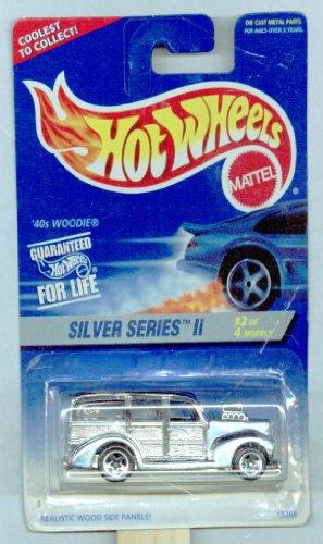 Hot Wheels 1996-421 '40s Woodie 2 Of 4 Silver Series II 1:64 Scale by Mattel, Inc. - 1