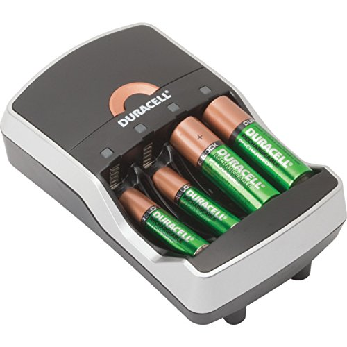 AA/AAA Duracell Ion Speed 8000 NiMH Battery Charger With 4 Batteries Charges Up To Four AA Or AAA Batteries In 15 To 95 Minutes Comes With Two AA and AAA Duracell StayCharged Rechargeable Batteries Works With All Rechargeable AA And AAA NiMH Batteries Auto Shutoff When Batteries Are Charged LED Indicator Shows When Charging Is Complete - Use With Our 157611 Or 157613 (Duracell Ion Speed 8000 compare prices)