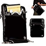 Premium Extra Padded Extra Protection, Patent Leather Shoulder Carrying Sleeve with Handles For T-Mobile G-Slate / T-Mobile SpringBoard Android Tablet