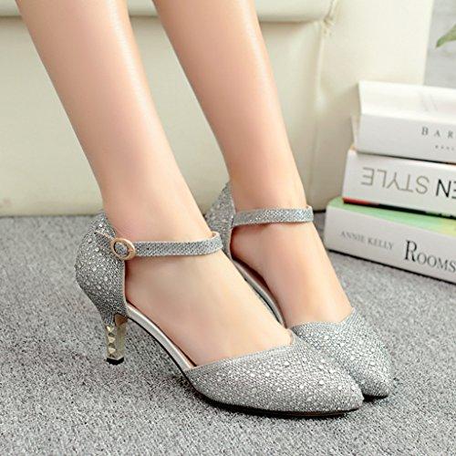 Littleboutique Vintage Mid-heel Metallic D¡¯Osay Pumps Bridesmaid Shoes Evening Dress Heels Wedding Shoes 3