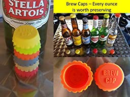 24 BREW CAPS #1 Brew Cap in USA Brewers favorite Silicone Bottle Caps ideal stocking stuffer