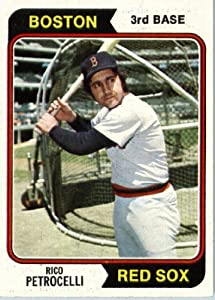 1974 Topps #609 Rico Petrocelli Boston Red Sox Baseball Card In A