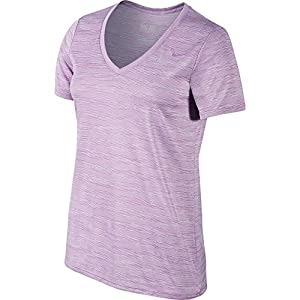 New Nike Women's Legend V-Neck Veneer Short-Sleeve Shirt