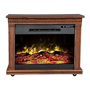 Heat Surge Roll N Glow Amish Fireplace In Dark Oak Home Kitchen