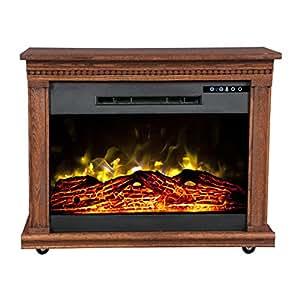 Amazon Com Heat Surge Roll N Glow Amish Fireplace In Dark