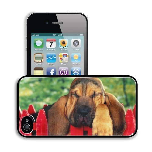 Dog Ears Sleep Fence Brown Apple Iphone 4 / 4S Snap Cover Premium Aluminium Design Back Plate Case Customized Made To Order Support Ready 4 7/16 Inch (112Mm) X 2 3/8 Inch (60Mm) X 7/16 Inch (11Mm) Liil Iphone_4 4S Professional Metal Cases Touch Accessorie