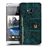 Head Case Blue Green Circuit Board Design Protective Back Case Cover For Htc One